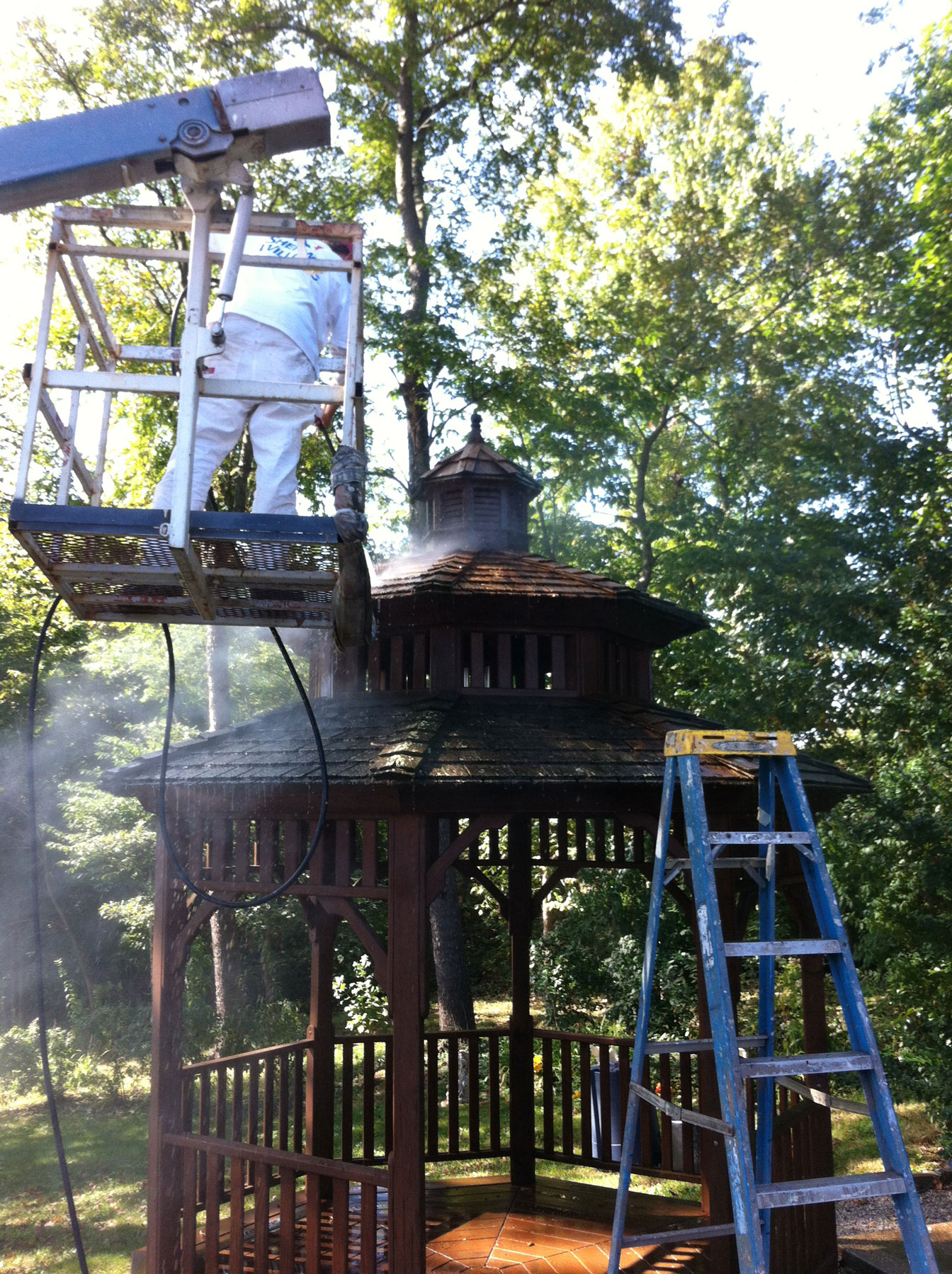 Gazebo powerwashing